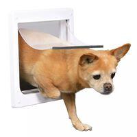 TRIXIE Drzwiczki dla psa z 2 formami zamknięcia XS-S 25x29 cm białe