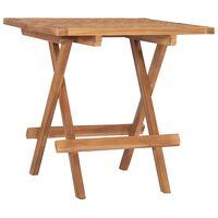 vidaXL Składany stolik ogrodowy, 50x50x50 cm, lite drewno tekowe