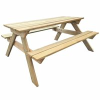 vidaXL Stół piknikowy, 150 x 135 x 71,5 cm, drewno