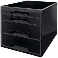 Leitz Biurkowy organizer na dokumenty, 4 szuflady, czarny