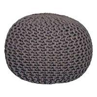 LABEL51 Puf wydziergany z bawełny, M, ciemnoszary