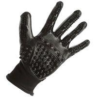 Kerbl Rękawice do czyszczenia i masażu, rozmiar S, czarne