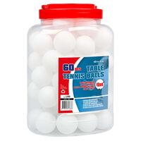 Get & Go Piłeczki do tenisa stołowego, 60 szt., ABS, białe