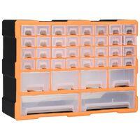 vidaXL Organizer z 40 szufladkami, 52x16x37,5 cm