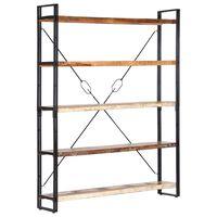 vidaXL 5-poziomowy regał na książki, 140x30x180 cm, drewno z odzysku