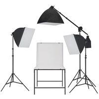 vidaXL Oświetleniowy zestaw softbox do studia ze stołem do fotografii