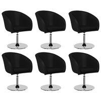 vidaXL Krzesła jadalniane, 6 szt., czarne, sztuczna skóra