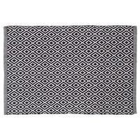 Sealskin Dywanik łazienkowy Trellis, bawełna, 60x90 cm, biało-czarny