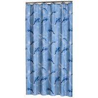 Sealskin Zasłona prysznicowa Delfino, 180x200 cm, niebieska