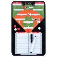 Pure2Improve Dwustronna tablica trenerska do baseballu, 35x22 cm