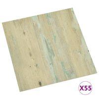 vidaXL Samoprzylepne panele podłogowe, 55 szt., PVC, 5,11 m², brązowe
