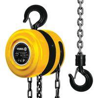 VOREL Wciągarka łańcuchowa 1000 kg, żółta 80751