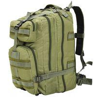 vidaXL Plecak w stylu wojskowym, 50 L, oliwkowy zielony