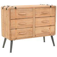 vidaXL Szafka z szufladami, lite drewno jodłowe, 91 x 35 x 73 cm
