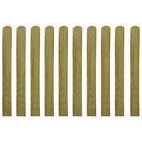 vidaXL Impregnowane sztachety, 10 szt., drewno, 100 cm