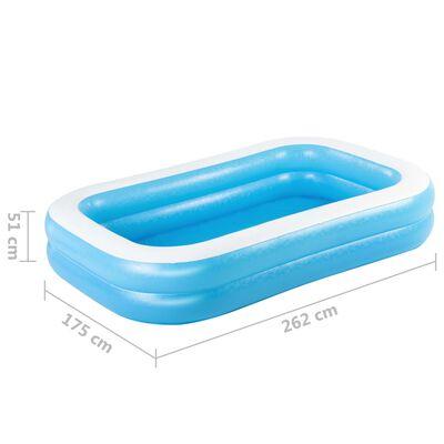 Bestway Basen rodzinny, prostokątny, 262x175x51 cm, niebiesko-biały