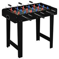 vidaXL Mini stół do gry w piłkarzyki, 69 x 37 x 62 cm, czarny