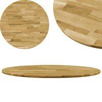 vidaXL Okrągły blat do stolika z litego drewna dębowego, 23 mm, 500 mm