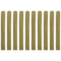 vidaXL 20 impregnowanych sztachet drewnianych, 100 cm