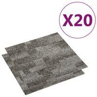 vidaXL Podłogowe płytki dywanowe, 20 szt., 5 m², szare