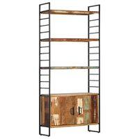 vidaXL Regał na książki, 4 poziomy, 80x30x180 cm, drewno z odzysku