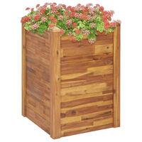 vidaXL Podwyższona donica ogrodowa, 60x60x84 cm, lite drewno akacjowe