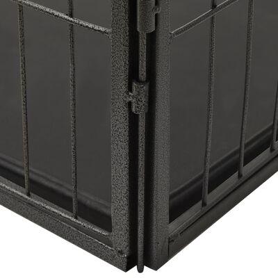 vidaXL Kojec dla szczeniąt, stalowy, 125 x 80 x 70 cm