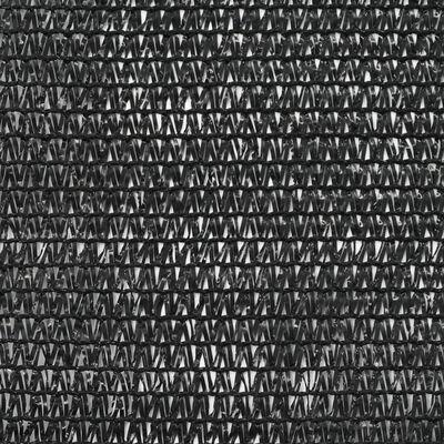 vidaXL Siatka ochronna do kortu tenisowego, HDPE, 1,4x100 m, czarna