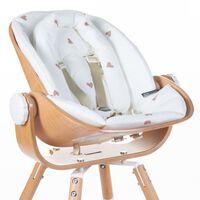CHILDHOME Poduszka do krzesełka dla niemowlęcia Evolu Jersey Hearts
