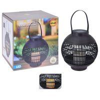 ProGarden Solarna latarenka ogrodowa ze świecą, czarny rattan