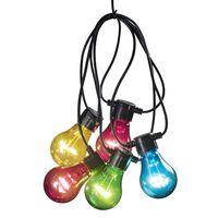 KONSTSMIDE Lampki imprezowe z 10 żarówkami, zestaw startowy, kolorowe