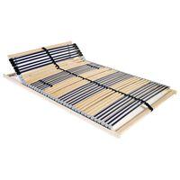 vidaXL Stelaż do łóżka z 42 listwami, 7 stref, 100 x 200 cm
