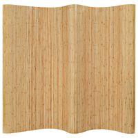 vidaXL Parawan bambusowy, 250 x 165 cm, naturalny