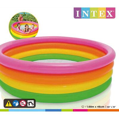 Intex Dmuchany basen dla dzieci Sunset, 4 obręcze, 168x46 cm
