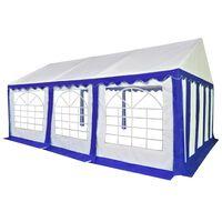 vidaXL Namiot ogrodowy, imprezowy pawilon PVC, 4x6 m, niebiesko-biały