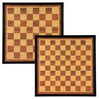 Abbey Game Szachownica i plansza do warcabów, 41 x 41 cm, drewno