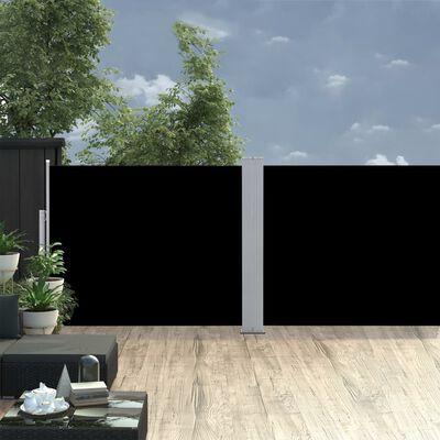 vidaXL Zwijana markiza boczna, czarna, 170 x 1000 cm