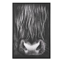 Obraz Na Płótnie W Ramie 63 X 93 Cm Czarny Galeata