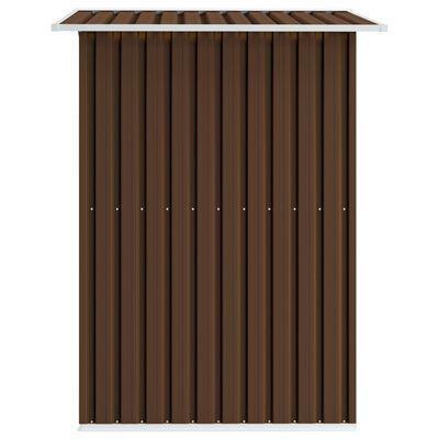 vidaXL Szopa ogrodowa, brązowa, 204 x 132 x 186 cm, stalowa