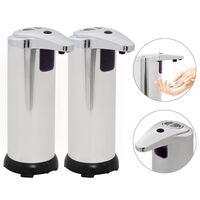 vidaXL Automatyczne dozowniki mydła na podczerwień, 600 ml, 2 szt.