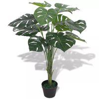 vidaXL Sztuczna roślina monstera z doniczką, 70 cm, kolor zielony