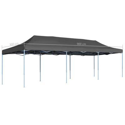 vidaXL Składany namiot imprezowy, 3 x 9 m, antracytowy