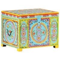 vidaXL Ręcznie malowana skrzynia do przechowywania, 50x40x40 cm, mango