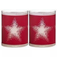 Bolsius 6 świec, czerwone z gwiazdą, 103622390541