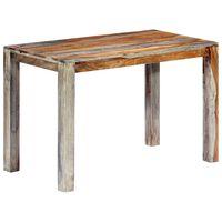 vidaXL Stół do jadalni, szary, 118 x 60 x 76 cm, lite drewno sheesham