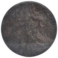 vidaXL Blat do stołu, czarny, Ø50 x 2,5 cm, marmur