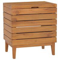 vidaXL Kosz na pranie, 40x30x45 cm, lite drewno tekowe