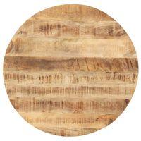 vidaXL Blat stołu, lite drewno mango, okrągły, 25-27 mm, 80 cm
