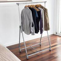 Storage solutions Wieszak na ubrania z 4 kółkami, metalowy