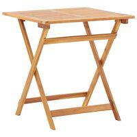 vidaXL Składany stół ogrodowy, 70 x 70 x 75 cm, lite drewno akacjowe